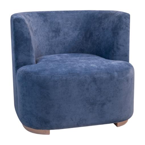 rund stol velur blå