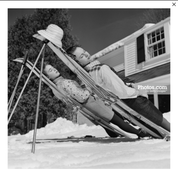 New England Skiing by Slim Aarons
