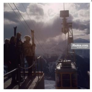 Alipne Skiing by Slim Aarons