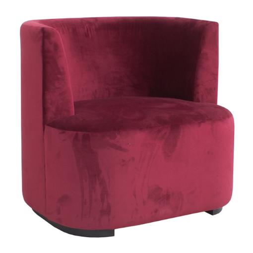 rund stol velur rød