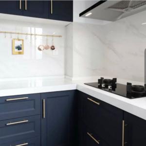 hexagon håndtak gull kjøkken