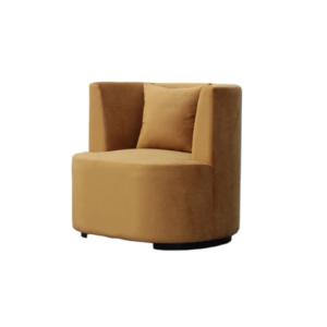 rund stol velur beige