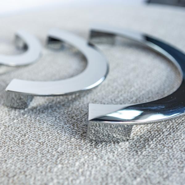 Crescent håndtak sølv stue